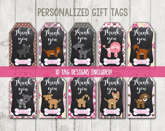 Printable Puppy Thank You Tags, Puppy Tags, Dog gift tags, Pawty birthday tags, Puppy Party gift tags, Dog Tags, Dog Thank You Tags, Paw-ty