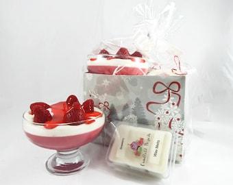 Strawberry Parfait Candle & Wax Melt Gift Set