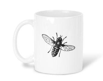 Fly Mug Coffee Mug Fly Tea Mug Fly Travel Mug Fly Gift Mug Home Mug Yellow Black Mug insect