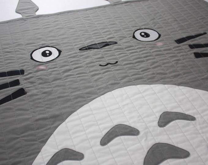 Totoro baby quilt--Totoro-MTO