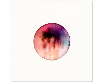 Blood Moon Art Print. Watercolor Moon Art. Red & Purple Celestial Art. Moon Watercolor. Planet Art. New Age Art. Hippie Decor. Astronomy Art