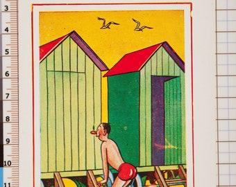 British Humorous-Vintage Postcard 1950s-60s-Unused-Unposted-peeping Tom seaside theme