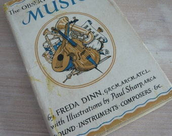 The Observer's Book Of Music 1950s / 1960s Edition Pocket Guide Retro Vintage Mid Century
