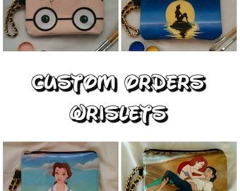 Custom handpainted Purse/Wrislet