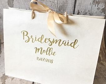 Bridesmaid Gift bag, Bridesmaid Proposal, Wedding Gift bag, Maid of Honour Gift bag, Mother of the Bride Gift Bag, Father of the Bride Gift