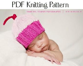 Knit Cupcake Hat Pattern, Boston Beanies