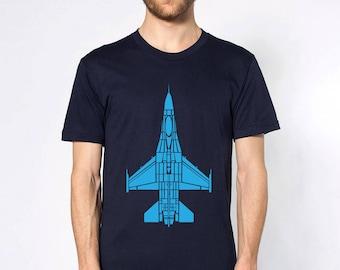 KillerBeeMoto: Grumman F-16 Fighting Falcon Fighter Jet Short or Long Sleeve Shirt