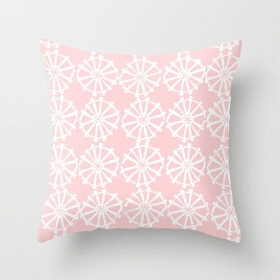 OUTDOOR Throw Pillow . Blush pink Outdoor Pillow . Blush patio cushion . Modern Geometric Pillow Wheel . 16 18 20 inch . Pink Lumbar Pillow
