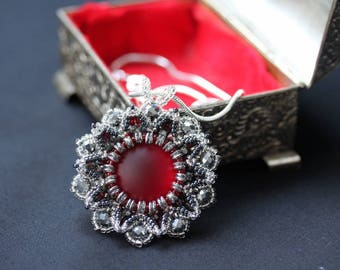Red and Silver Lunasoft Pendant