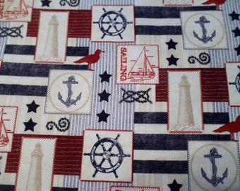 Lighthouse, Nautical 4-pc handcrafted placemats, lined with blue, so cute