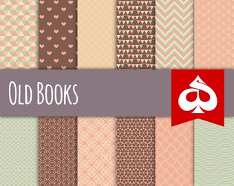 Old Books Digital Paper Pattern Clipart