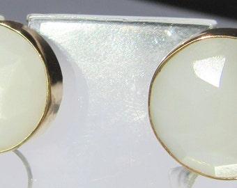 Moonstone Earrings, Moonstone Jewelry, Moonstones, Rainbow Moonstone Earrings, Moonstone Stud Earrings, Gold Rainbow Moonstone Earrings