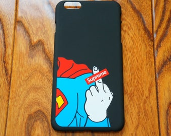 SUPREME X superman middle finger iphone cover