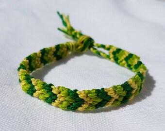 Friendship bracelet - Green multi