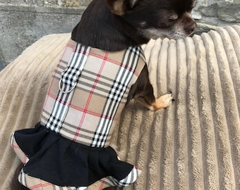 Harness dress for Chihuahuas and other small dogs