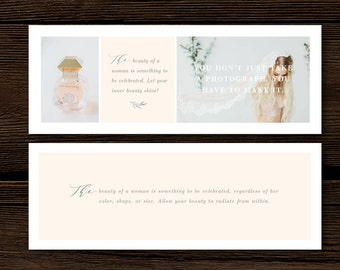 Facebook Cover Template - Timeline Cover Design for Photographers - Modern Calligraphy Style Designs - Digital Photoshop Templates