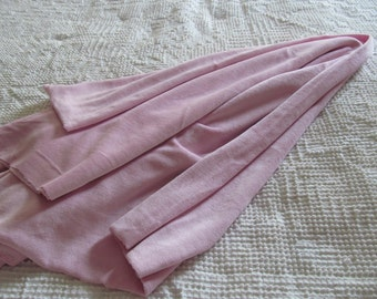 """Pretty soft pink stretchy velour fabric, 46"""" by 50"""""""