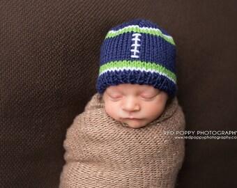 Football Baby Hat •  Football  Newborn Hat • Football Toddler Hat • Football Baby Beanie • Newborn photoprop