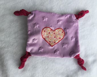 Purple flat plush with a heart Sevenberry