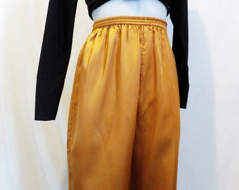 copper satin pants. size medium.