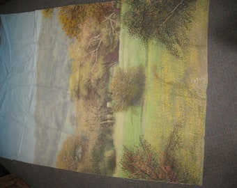 """80""""x57"""" Handpainted Canvas Wall Covering from Roy Rogers Museum Victorville CA"""