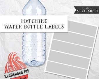 Matching Party Water Bottle Labels
