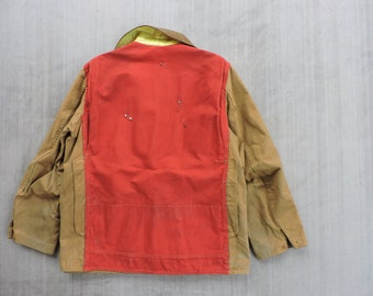 BEAT To HELL Rare Vintage 50s American Field Hettrick Two Tone Duck Hunting Jacket M