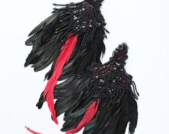 Ready to Ship Miyu Decay Feather Epaulettes Fascinators
