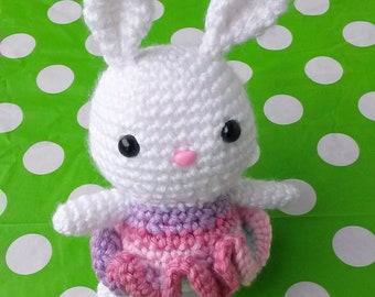Mini Baby Bunny Crochet Stuffed Animal Toy (Made-to-order/Custom)