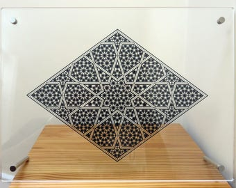 Golden Rhomb Transparent Acrylic Print