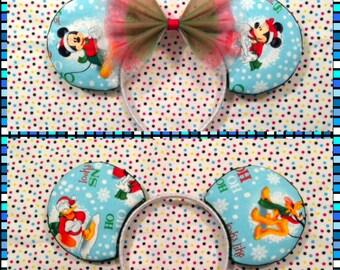Snowy Christmas Mouse Ears
