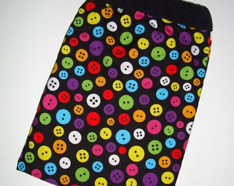 Bright Buttons Ipad Tablet Sleeve Bag