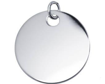 Large 35 mm sterling silver medal