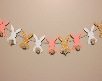 Easter Banner | Bunny Garland | Bunny Banner | Easter Decor | Bunny Rabbit Banner