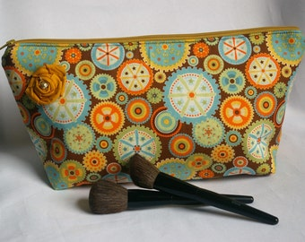 Large Flat Bottom Cosmetic Bag...The Adelaide Collection
