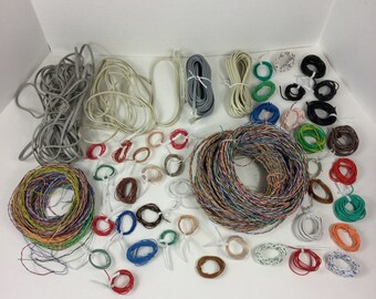 Craft Wire Assorted Pieces,Jewlry Wire,Computer Wire,Phone Wire,Multi Color,Random,Grab Bag,Variety,Craft Supply