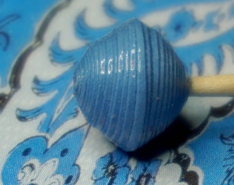 """Paper beads, jewelry, hand made. Paper beads """"Color of the world"""" Blue Horizon."""