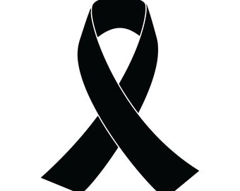 Ribbon for Support/Awareness Vinyl Decal