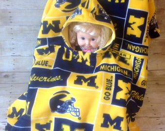 University of Michigan Toddler Car Seat Poncho