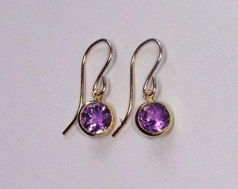 Amethyst earrings, Gold amethyst earrings, Amethyst jewellery, Amethyst jewelry, February birthstone earrings, Gifts