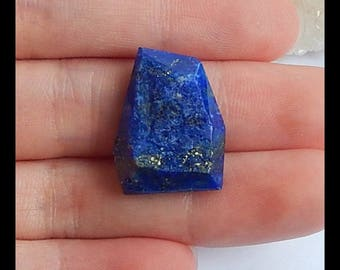 On Sale!!Nugget Lapis Lazuli Gemstone Cabochon,21x16x7mm,4.0g(s0129)