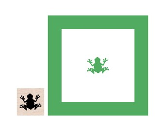 Mini Frog Rubber Stamp