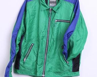Jinglers Sturdy Wear Mens XL Jacket Green Nylon Windcheater