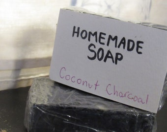 Homemade Soap - Coconut Charcoal