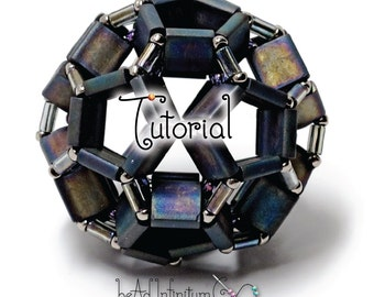 TUTORIAL Tila Buckyball Bead Beaded with Bugle and Seed Beads