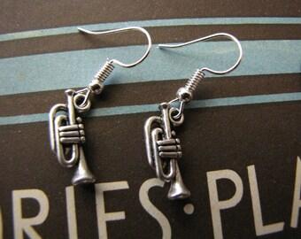 Silver Trumpet Earrings