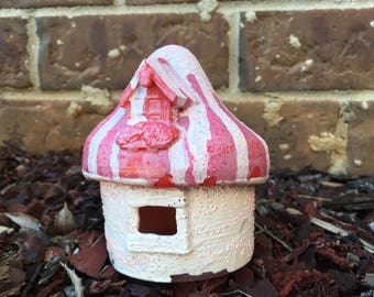Strawberries and Cream Fairy House