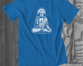 Buddha Vibing T shirt yoga music tops and tees t-shirts t shirts| Free Shipping