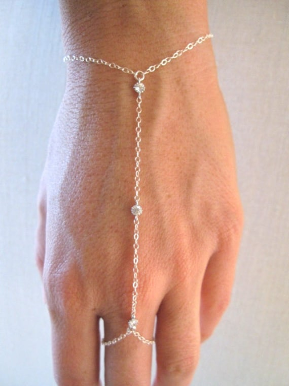 slave bracelet hand chain gold filled bracelet ring chain