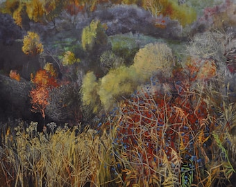 Landscape Oil Painting Original landscape Large painting Oil on canvas